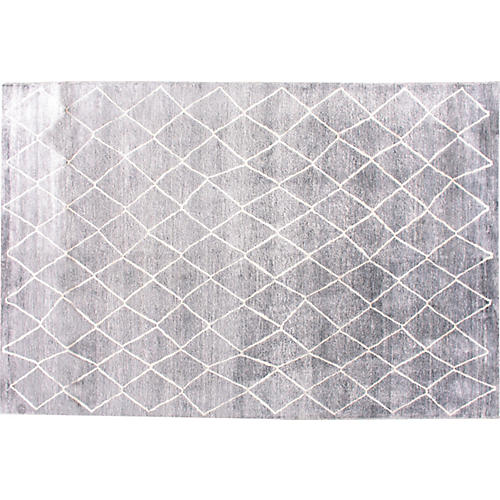 Batala Hand-Knotted Rug, Gray
