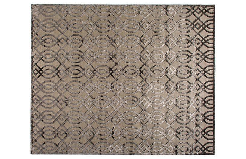 Bilari Hand-Knotted Rug, Gray/Taupe