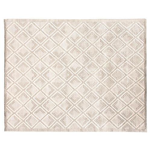 6'x9' Mallur Hand-Knotted Rug, Cream/Multi