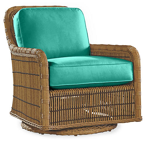 Rafter Swivel Glider, Turquoise