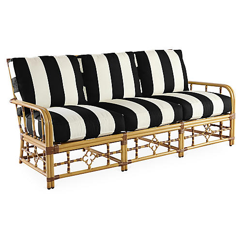 Mimi Sofa, Black/White Stripe