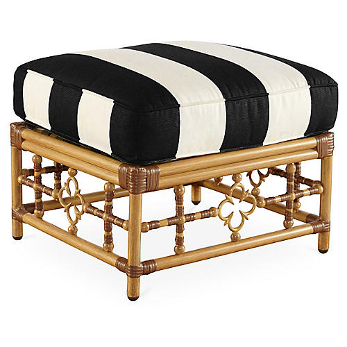 Mimi Ottoman, Black/White Stripe