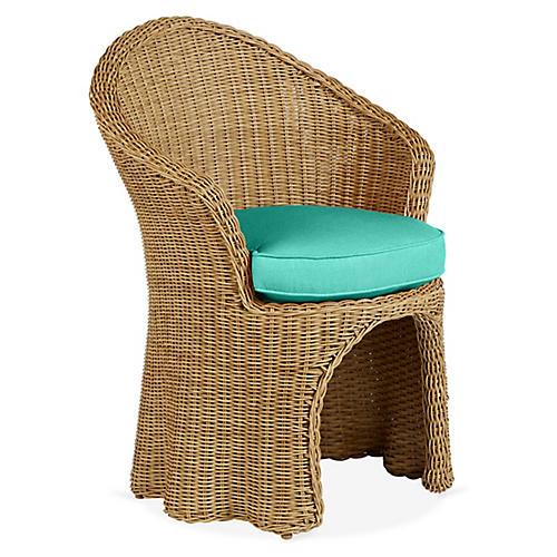Crespi Armchair, Turquoise
