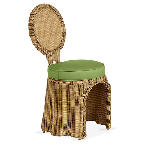 Crespi Side Chair, Cilantro