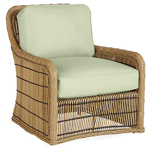 Rafter Lounge Chair, Sea Green