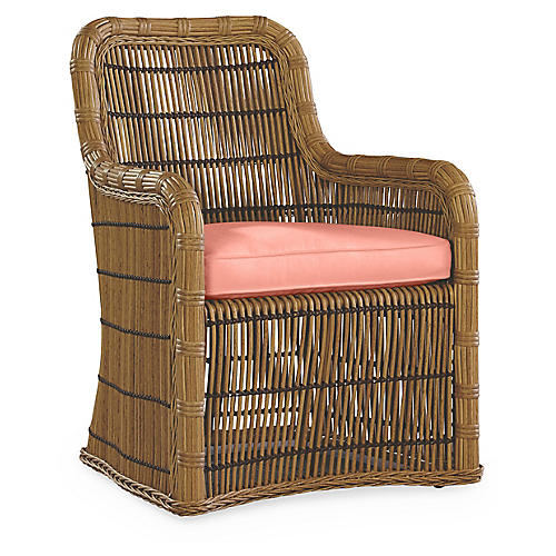 Rafter Armchair, Coral