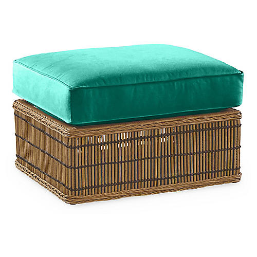 Rafter Ottoman, Turquoise