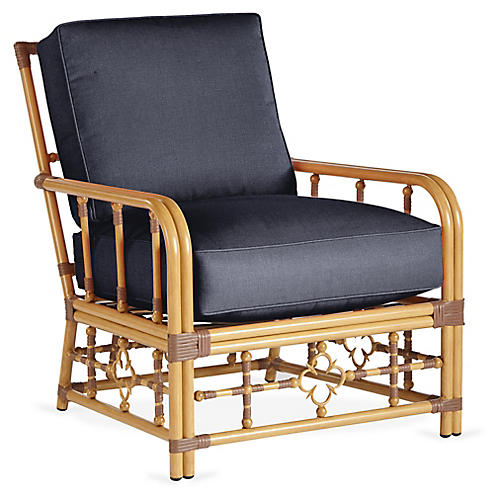 Mimi Lounge Chair, Navy
