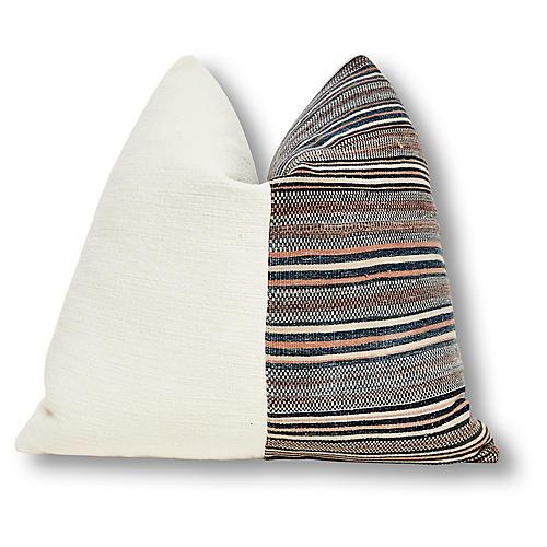 Nomadic 24x24 Pillow, Ivory/Brown