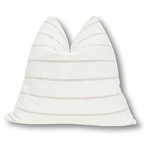 Liza 24x24 Pillow, Natural/Sand Linen