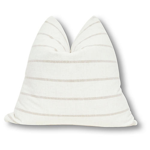 Liza 24x24 Pillow, Natural/Sand Linen