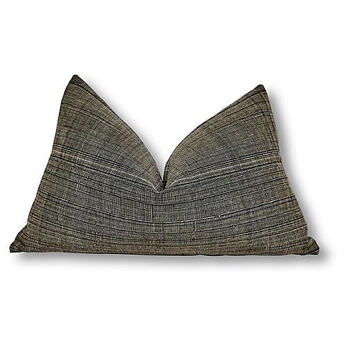 Lark 16x25 Pillow, Charcoal Linen