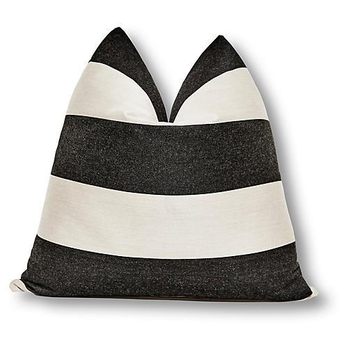 Juno 24x24 Indoor/Outdoor Pillow, Black