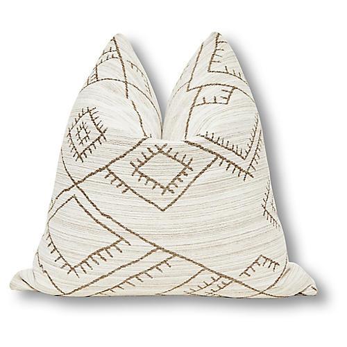 Habitas 24x24 Pillow, Natural/Tan