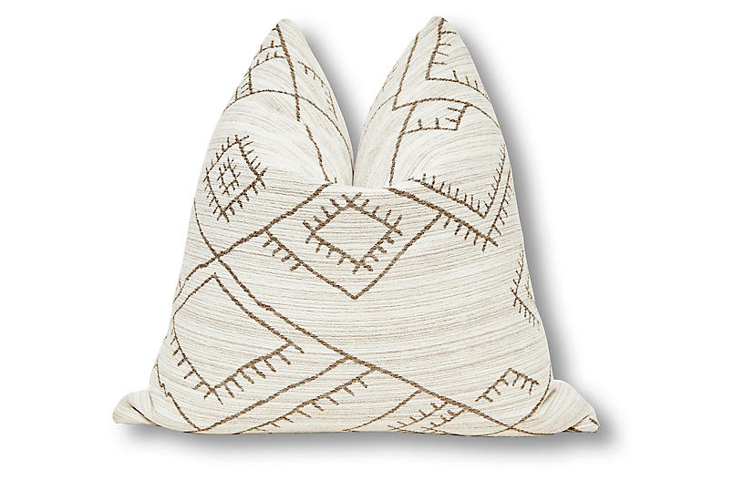 Habitas 24x24 Pillow, Natural/Tan