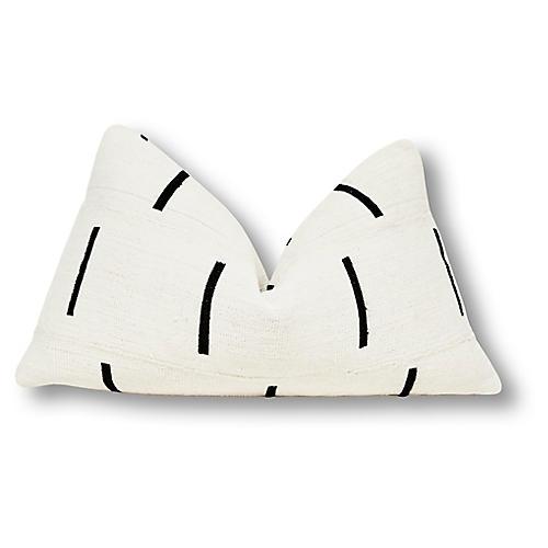 Dash 13x22 Pillow, White/Black