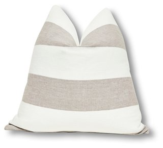 Caravana 24x24 Indoor/Outdoor Pillow, Salt. #pillows #homedecor #coastalstyle #stripes