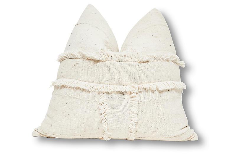 Banded 24x24 Pillow, Natural