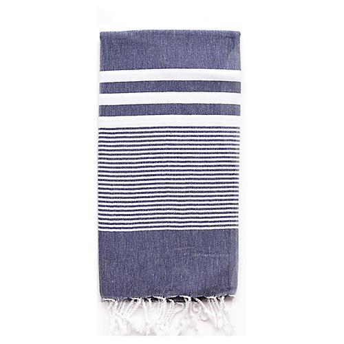 Nina Hand Towel, Navy