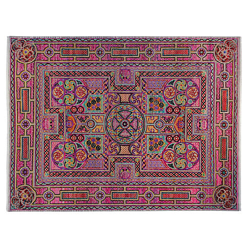 9'x12' Anguila Rug, Pink