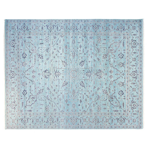 9'x12' David Rug, Silver Blue