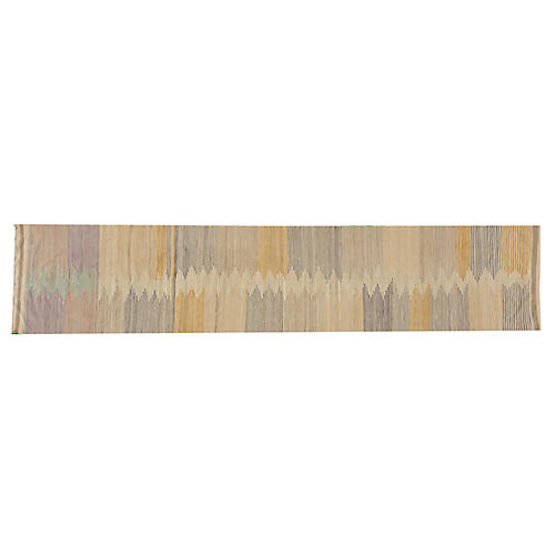 "2'8""x12'8"" Lilja Kilim Runner, Brown"