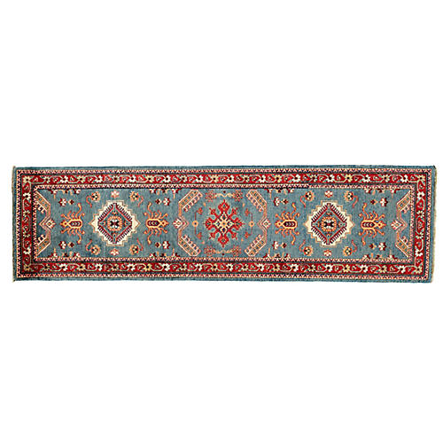 "2'9""x10'1"" Allegra Kazak Runner, Blue"