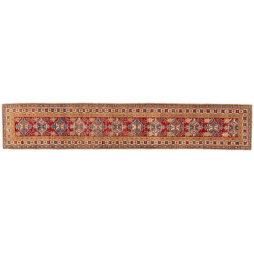 "2'9""x15'1"" Kai Kazak Runner, Red"
