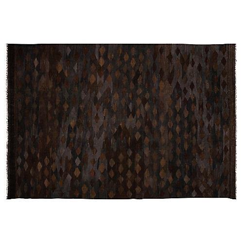 "6'8""x10' Shira Afghan Kilim, Black"