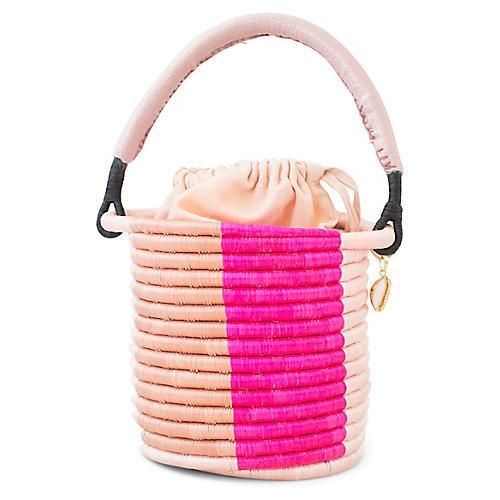 Lucine Bucket Bag, Pink/Peach