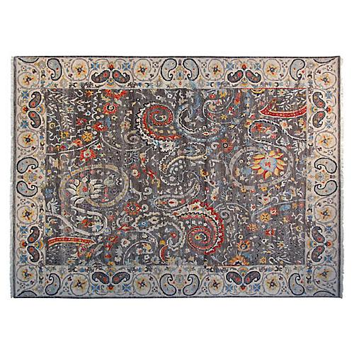 8'x10' Claudia Sari Wool Rug, Gray