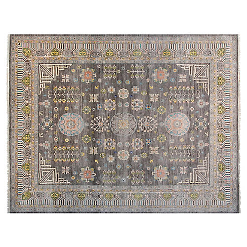 12'x15' Khotan Rug, Gray