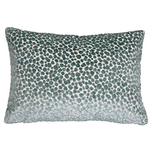 Pebbles 14x20 Lumbar Pillow, Teal Velvet