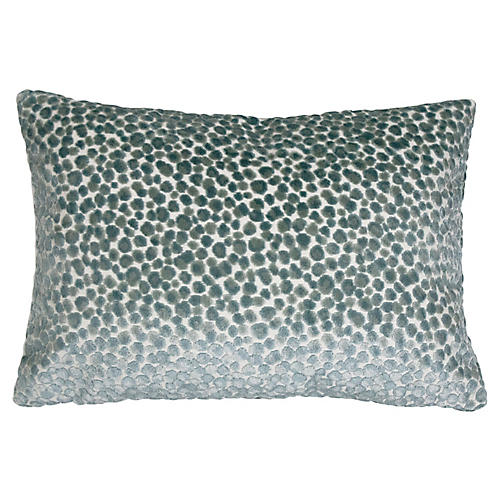Pebbles 14x20 Lumbar Pillow, Teal Velvet