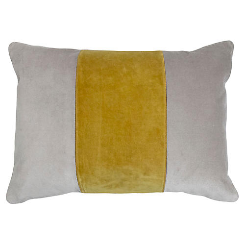 Cooper 14x20 Lumbar Pillow, Yellow Velvet