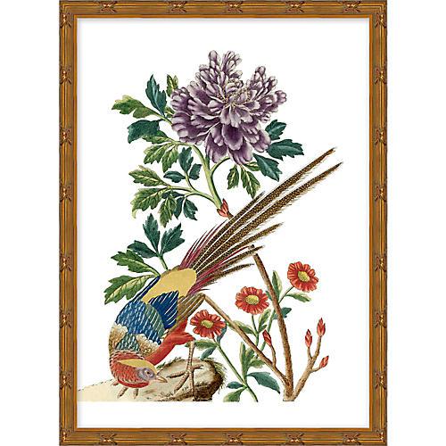 Multicolor Chinoiserie Birds I