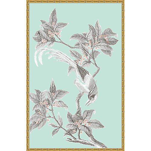 Blue & Gray Chinoiserie Birds I