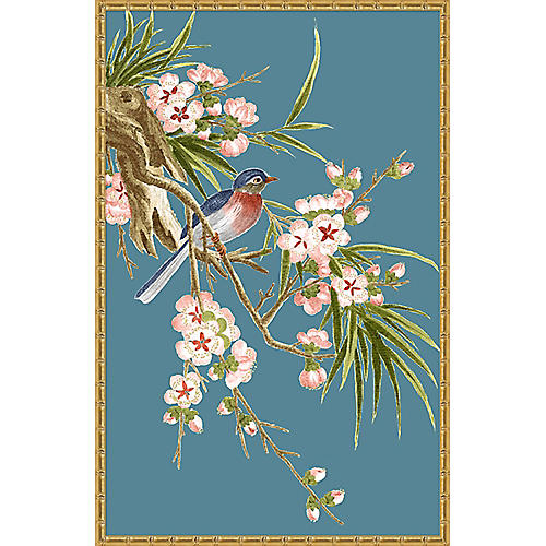 Navy & Green Chinoiserie Birds II