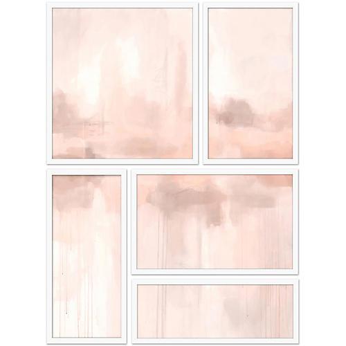 Spliced Pink Abstract II Set