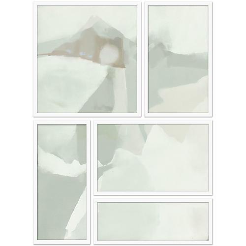 Spliced Fog Abstract II Set