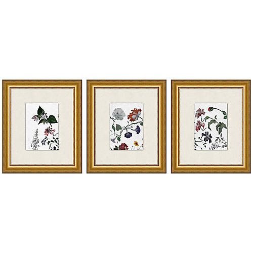 Lillian August, Floral Study 1-3