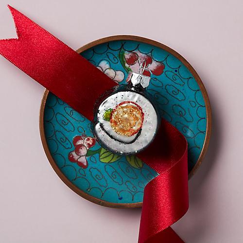 Sushi Roll Ornament, Green/Multi