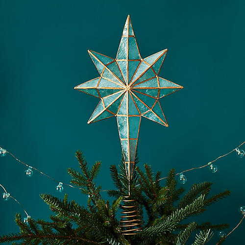 8-Point Tree Topper, Oyster/Gold