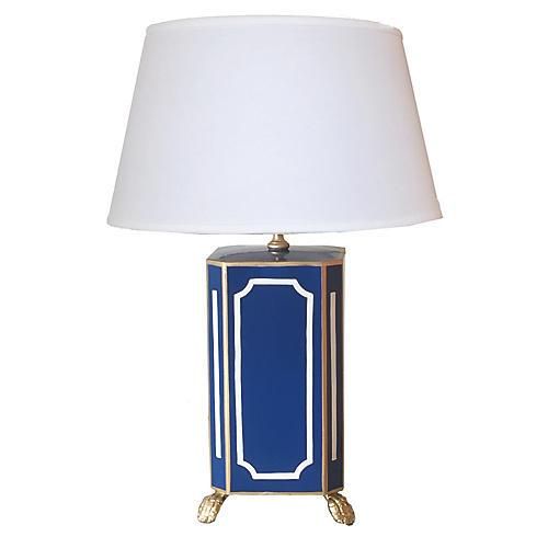Devon Table Lamp, Navy