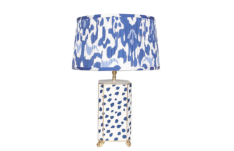 Fleck Table Lamp, Navy