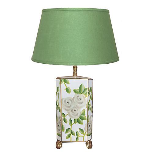 Chintz Table Lamp, Green