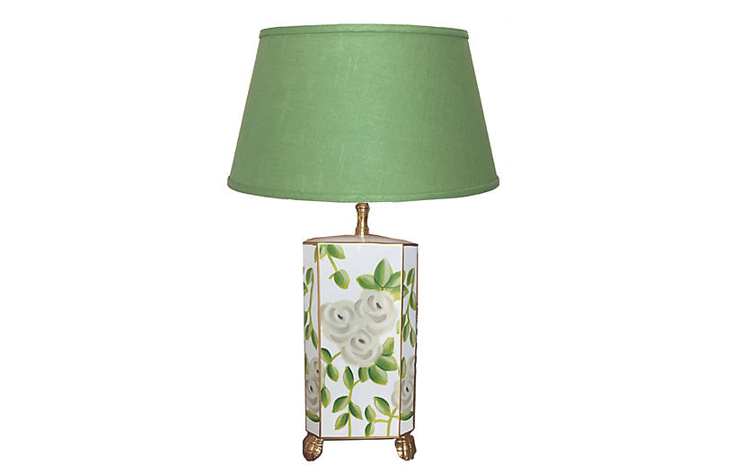 Chintz Table Lamp, Green