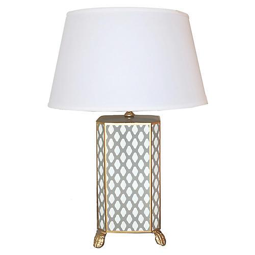 Parsi Table Lamp, Gray