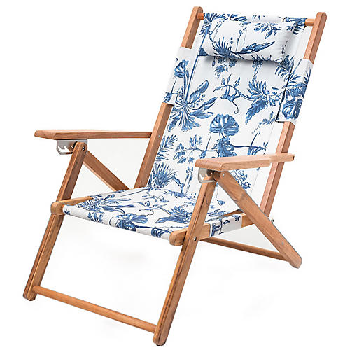 Tommy Beach Backpack Chair, Chinoiserie