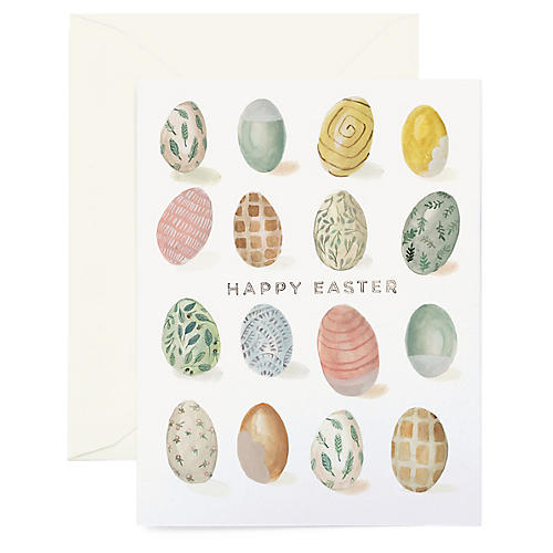 S/8 Easter Egg Greeting Cards